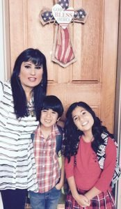 NASHVILLE – Naghmeh Abedini, wife of imprisoned American pastor Saeed Abedini, with their children Rebekkah and Jacob. BP Photo.